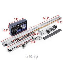 10 & 40 2Axis Digital Readout TTL Linear Glass Scale DRO Milling Lathe Machine