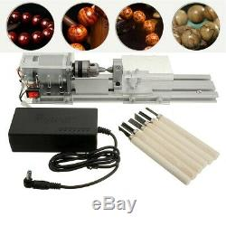 100W Mini Lathe Beads Polisher Machine Table Rotary Woodworking Wood Craft