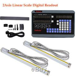 12 & 36 2Axis Digital Readout Linear Scale Encoder DRO Milling Lathe Machine