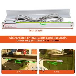 150-1000mm Magnet Linear Scale Remote LCD Display Readout for Lathe Machine