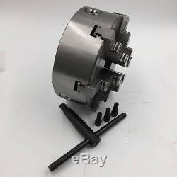 160mm 6 Jaw 6'' Lathe Chuck Self-Centering for CNC Drilling Milling Machine New