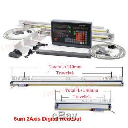 2/3 Axis DRO Digital Readout Display For Milling Lathe Machine /TTL Linear Scale