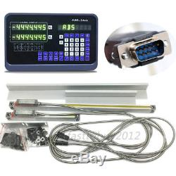 2 Axis DRO Digital Readout With Linear Scale Encoder for Milling Lathe Machine