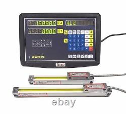 2 Axis DRO digital readout for milling lathe machine with linear scale 150 950