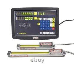 2 Axis DRO digital readout for milling lathe machine with linear scale 450 650