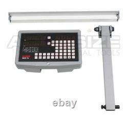 2-Axis DRO for 13x40 Lathe Machine Pkg with Glass Scale, DITRON Brand #SIN3-2003