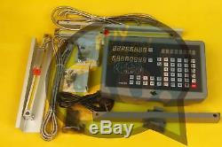 2 Axis Digital Readout Display Meter for Milling Lathe Machine Linear Scale New