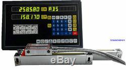 2 Axis Digital Readout Dro For Milling Lathe Machine With Procision Linear Scale
