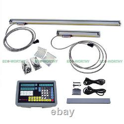 2 Axis Digital Readout Dro Kit Milling Lathe Machine With Precision Linear Scale