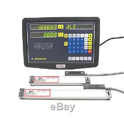 2 Axis Digital Readout Milling Lathe Machine DRO KIT Precision Linear Scale New