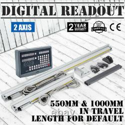 2 Axis Digital Readout Milling Lathe Machine With Linear Scale(1000mm &550mm)