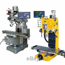 2 Axis Dro Digital Display Readout And 2 Linear Scales For Milling Lathe Machine
