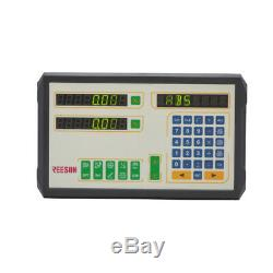 2 Axis Dro/digital Readout Magnetic Scale Kit For Milling/lathe Machine USA