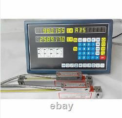 2 Axis digital readout for milling lathe machine with precision linear scale T