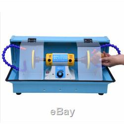 220V Mini Polishing Machine For Jewelry Lathe Bench Grinder with Dust-proof Case