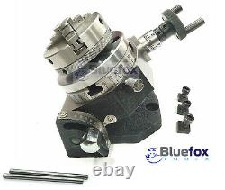 3/75mm Tilting Rotary Table With 65 MM Mini Lathe Chuck For Milling Machine