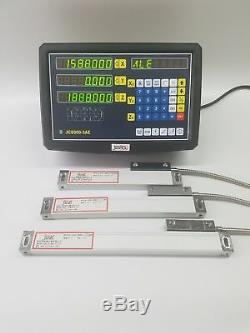 3 AXIS DIGITAL DISPLAY READOUT DRO FOR MILL LATHE MACHINE AND 3 LINEAR SCAL new