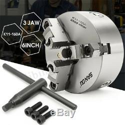 3 Jaw Lathe Chuck K11-160A 6 160mm Reversable Self-Centering Jaw Turn Machine A