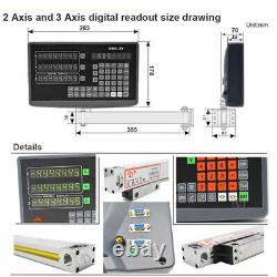3Axis Digital Readout DRO Display Milling Lathe Machine TTL Linear Scale Encoder