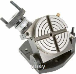 4 100mm Rotary Table Tilting With 3 Jaw 65mm Mini Lathe Chuck Milling Machine