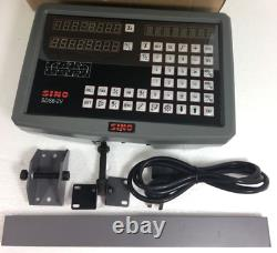 DRO 2 Axis Digital Readout SINO SDS6-2V For Mill Or Lathe Machine E1
