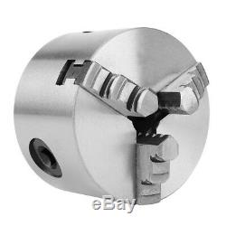 K11-80 3-Jaw Self-Centering Lathe Chuck With Extra Jaws Machine Accessories