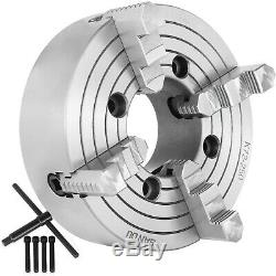 K72-250 10 4 Jaw Lathe Chuck Independent Milling Machine 250mm Front Mounting