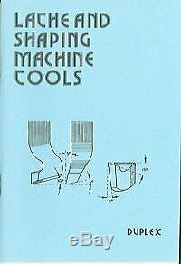 LATHE AND SHAPING MACHINE TOOLS (PAST MASTERS SERIES) By Duplex BRAND NEW