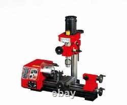 M1 250mm Micro Multi-function Machine Drilling and Milling Lathe machine 220V S