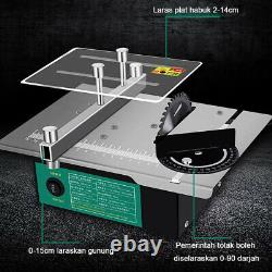 Mini Electric Table Saw Household Grinding Lathe Machine Woodworking 12000r/min