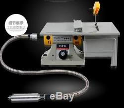 Multi-use Mini Bench Lathe Machine Electric Grinder Polisher With Full Accessories