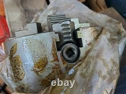 NOS 8 4 Jaw Lathe Chuck Independent Milling Machine Reversible 8 Inch withkey