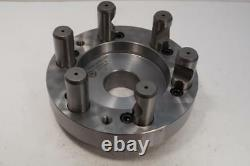 New Bison 6-1/4 Fully Machined Set-Tru Lathe Chuck Adapter Plate. D1-6 D6 Mount