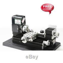 New Mini Small Metal Lathe Machine Saw Combined Motorized Tool 12VDC/2A/24W