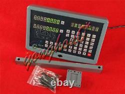 New SNS-2V 2 Axis DRO Digital Display Readout For Milling Lathe Machine