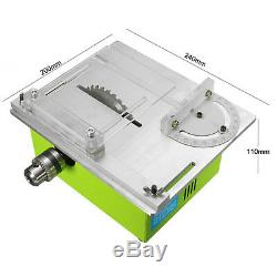 Raitool 3 in 1 Bench Table Saw Wood Working Lathe Polisher Drill Carving Machine