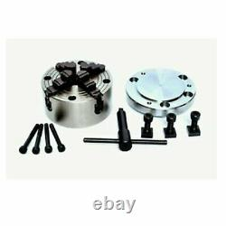 Rotary Table 4 Inch With 4 Jaw Independent Chuck 100 mm For Lathe Machine