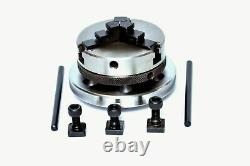 Rotary Table Tilting 3/75mm with65mm Lathe Chuck for Milling Machine