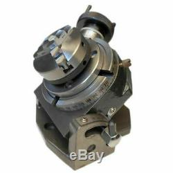 Rotary Table Tilting 4 / 100mm with 65mm Lathe Chuck for Milling Machine NEW