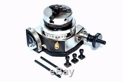 Tilting Rotary Table 3/75mm With 65 MM Mini Lathe Chuck For Milling Machine
