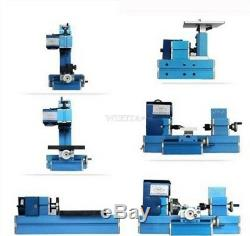 Wood Metal Lathe Milling Drilling 6 In 1 Metal Material Machine Tool Kit New ic